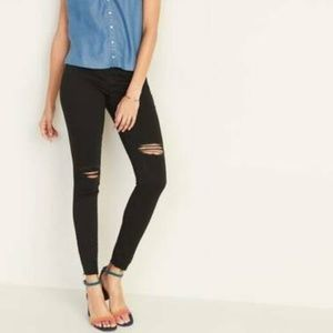 ON Distressed Rockstar Jeggings Black Jeans